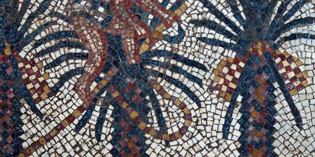 A detail from the Elim mosaic.