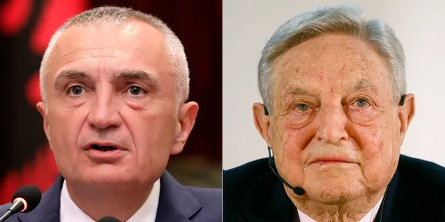 President Ilir Meta of Albania (left on Tuesday) accused left-wing billionaire George Soros of a plot aimed at destabilizing the country following municipal elections Sunday