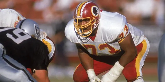 Mark May won two Super Bowls during his career. (Photo by: Stephen Dunn/Getty Images)