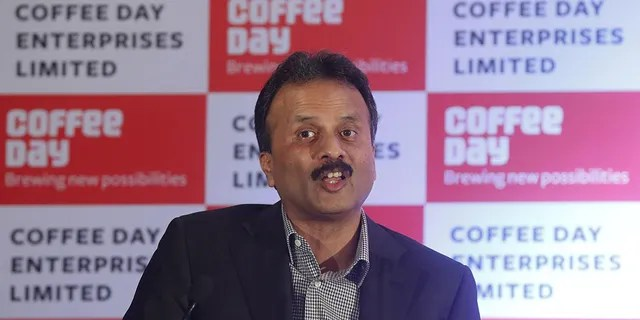 V.G. Siddhartha, chairman of Coffee Day Enterprises Ltd, speaks during a news conference in Mumbai, India, October 7, 2015.