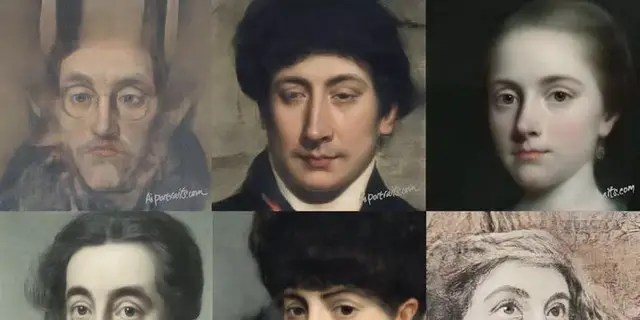 Some portraits produced by the AI Portrait Ars model.