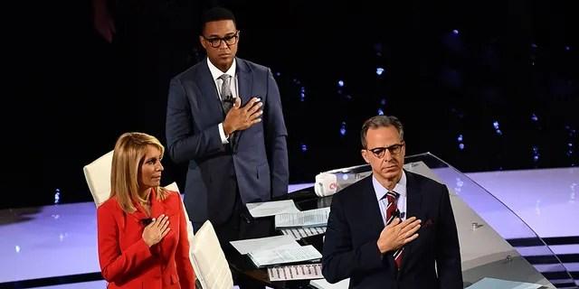 MSNBC pundits and guests criticized CNN moderators Dana Bash, Don Lemon and Jake Tapper. (BRENDAN SMIALOWSKI/AFP/Getty Images)