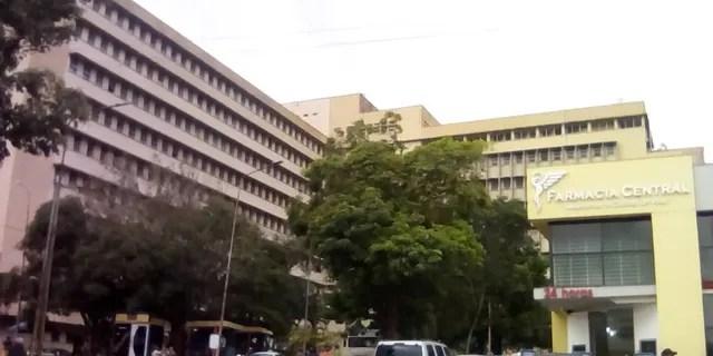 Outside the Central San Cristobal hospital in Venezuela