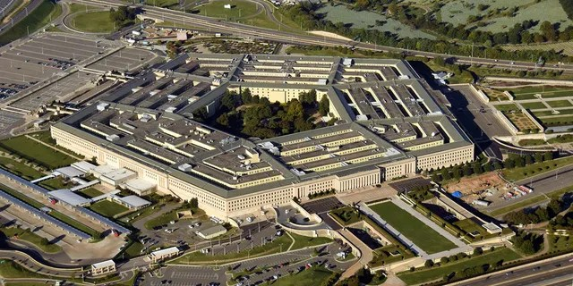 The Pentagon in Washington, D.C. in an aerial view.