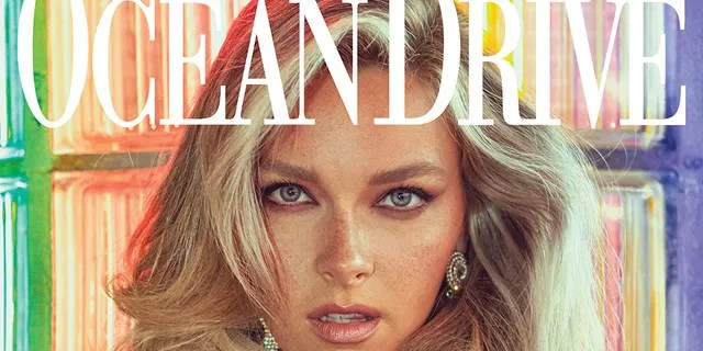 Camille Kostek is on the September 2019 issue of Ocean Drive magazine.