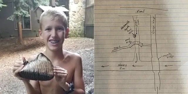 12-year-old Jackson Hepner discovered the woolly mammoth tooth in the grounds of the Inn at Honey Run.