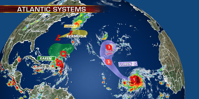 Three tropical systems are currently churning out in the Atlantic basin.