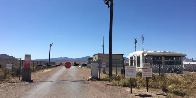 "The so-called ""Back Entrance"" to Area 51, located off a dirt road in Rachel, Nev. as seen on Sept. 18, 2019."