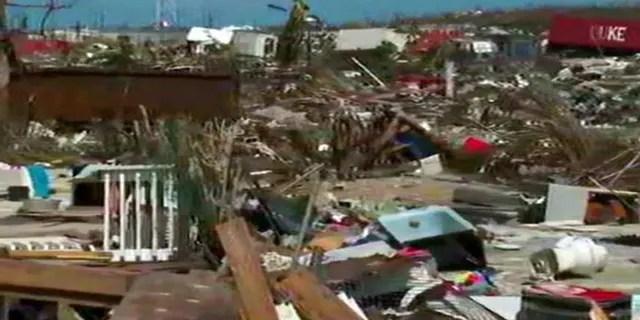 A glimpse of the destruction on Abaco Island, Bahamas.