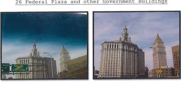 A photo of Federal Plaza in New York City. (Court documents)