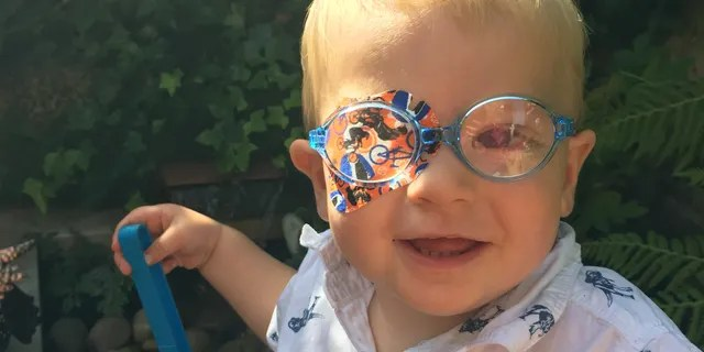 Theo suffered from childhood cataracts.