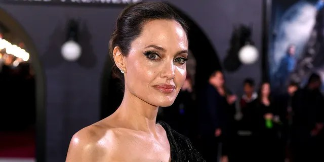 Angelina Jolie arrives at the premiere of Disney's