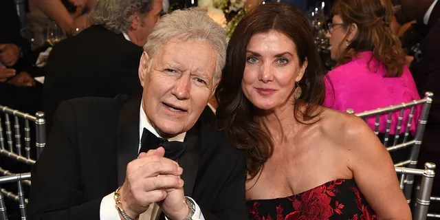 Alex Trebek and his wife, Jean Currivan Trebek, at the 47th AFI Life Achievement Award honoring Denzel Washington at Dolby Theatre on June 06, 2019, in Hollywood, California.