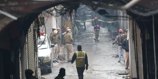 Fox News Today: Police officers cordon off the site of a fire in a narrow lane in New Delhi, India, Sunday, Dec. 8, 2019. A doctor at a government-run hospital says dozens have died in a major fire in central New Delhi. (Associated Press)
