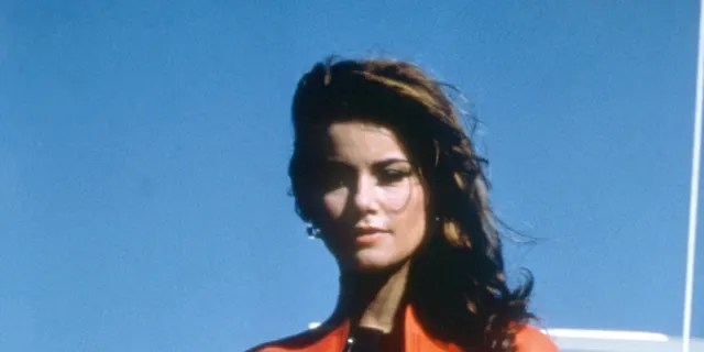 Actress Claudine Auger on the set of 'Thunderball.'