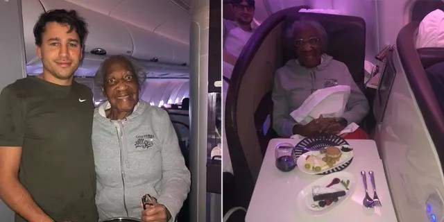 """One Virgin Atlantic flight attendant didn't hesitate to play favorites when sharing the sweet story of her new """"favorite"""" passengers Jack and Violet, pictured,"""
