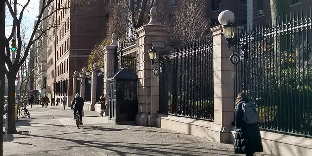 Barnard College, in Manhattan, is located across the street from Columbia University.