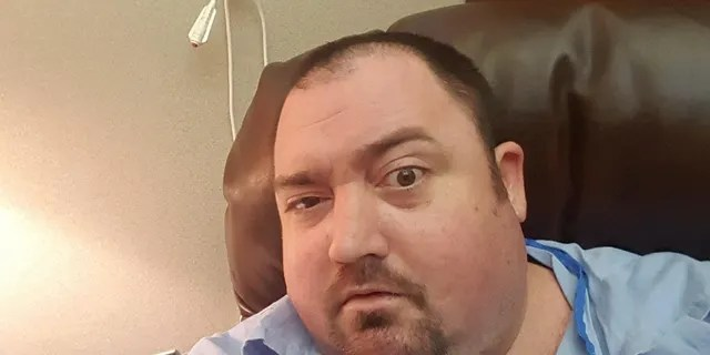 Adam Harris before his dramatic weight loss.