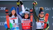 Brignone and Vlhova share GS win, 0.01 ahead of Shiffrin