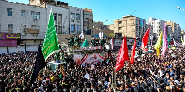 The body of Gen. Qassem Soleimani arrived Sunday in Iran to throngs of mourners, as President Trump threatened to bomb 52 sites in the Islamic Republic if Tehran retaliates by attacking Americans.