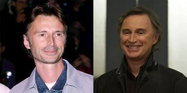 """Robert Carlyle at the 2000 premiere of """"The Beach"""" (left) and on """"Once Upon a Time,"""" which ran from 2001-2018 (right)."""