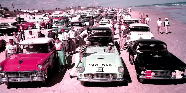 Before the speedway was built, events were held on the sands of Daytona Beach.