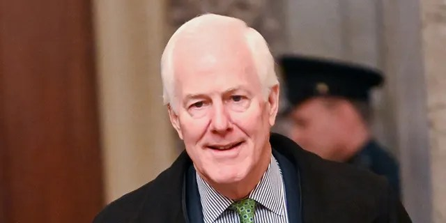 Sen. John Cornyn, R-Texas arrives for the continuation of the Senate impeachment trial of President Trump at the U.S. Capitol in Washington. Cornyn blamed China and the Chinese culture for the coronavirus pandemic while speaking with reporters Wednesday. (REUTERS/Erin Scott)