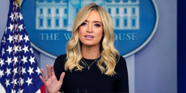 White House press secretary Kayleigh McEnany speaks during a press briefing at the White House, Tuesday, May 26, 2020, in Washington. (AP Photo/Evan Vucci)