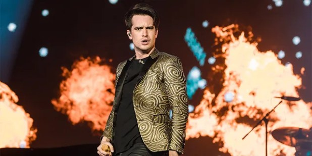 Panic at the Disco's Brendon Urie performs on Day 4 of the Rock In Rio Music Festival