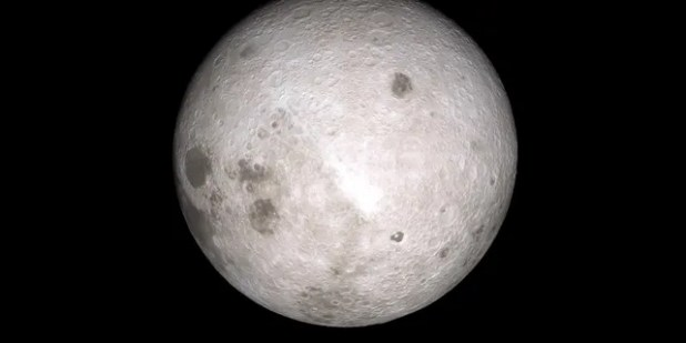 An image from the other side of the moon captured by NASA's Lunar Reconnaissance Orbiter.