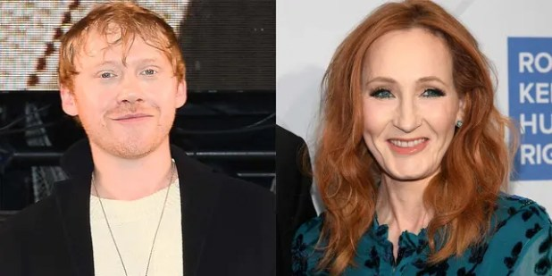 Rupert Grint disagreed with JK Rowling's comments on transgender people.