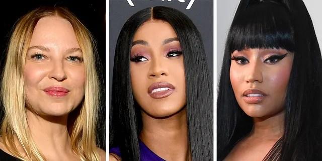Left to right: Sia, Cardi B and Nicki Minaj.