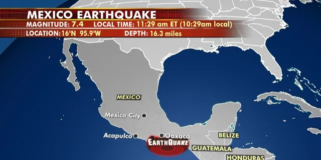 A magnitude 7.4 earthquake in southern Mexico triggered a tsunami warning for the Pacific Coasts of countries in Central America.