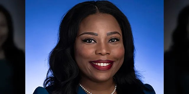 In a photo provided by the Tennessee State Senate, Tennessee state Sen. Katrina Robinson poses for a photo in Nashville, Tenn., d (Tennessee State Senate via AP)