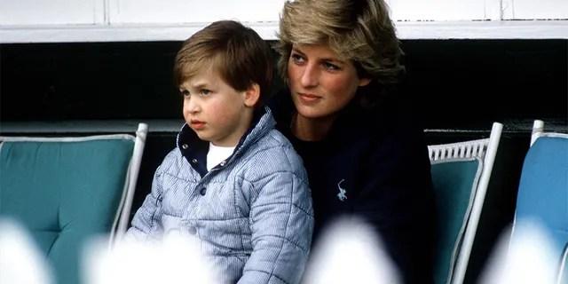 La princesse Diana avec le prince William.
