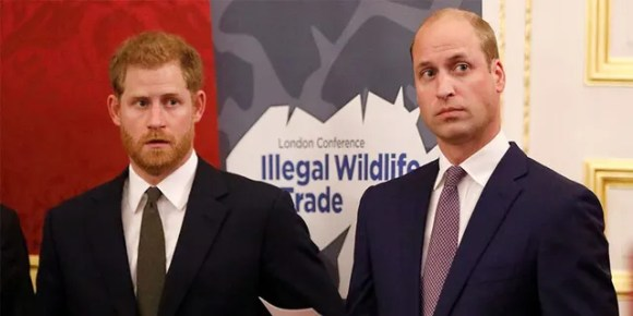 Prince William (right) and his younger brother Prince Harry.