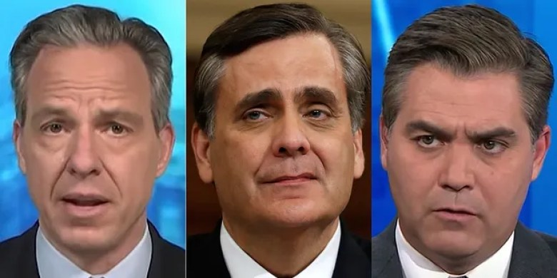 George Washington University law professor Jonathan Turley praised CNN's Jake Tapper Friday for fact-checking his colleague Jim Acosta.