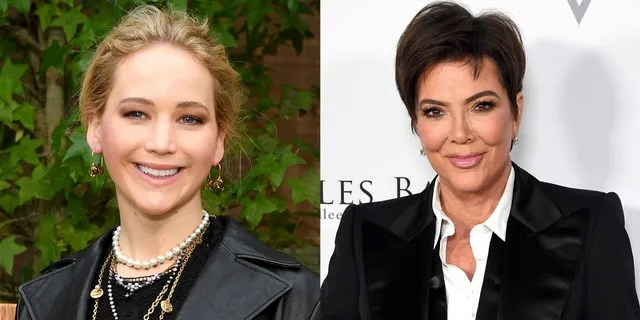 Jennifer Lawrence (left) and Kris Jenner (left). Jenner sent a birthday wish to Lawrence.