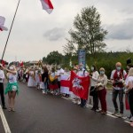 Lithuania citizens form human chain to support Belarus protests, with fourth protester found dead