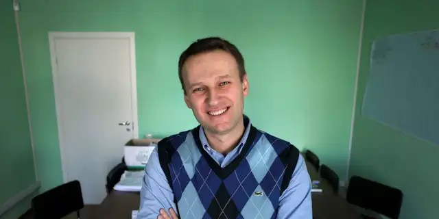 In this 2017 file photo, Alexei Navalny poses in his office in Moscow, Russia. (AP)