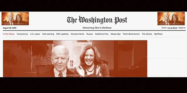 """Washington Post readers found a massive Trump Campaign ad declaring that Kamala Harris's addition to the Democratic ticket proves """"the radical leftist takeover of Joe Biden is complete."""""""