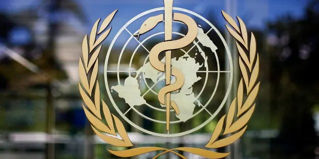 In this Thursday, June 11, 2009 file photo, the logo of the World Health Organization is seen at the WHO headquarters in Geneva, Switzerland.  (AP Photo/Anja Niedringhaus, file)