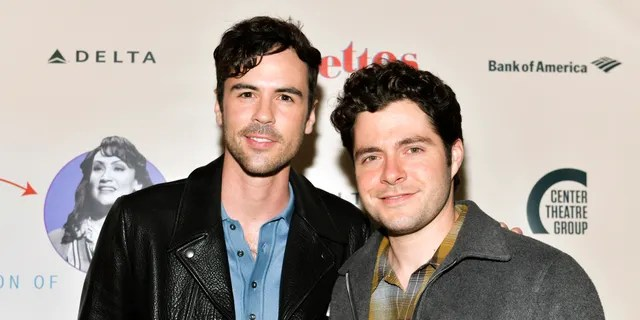 Blake Lee (L) and Ben Lewis (R) attend the opening of Center Theatre Group's