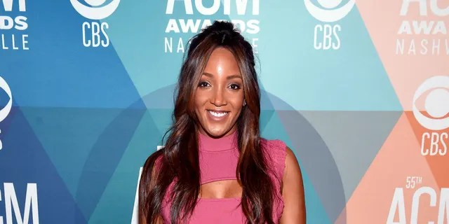 Mickey Guyton attends virtual radio row during the 55th Academy of Country Music Awards at Gaylord Opryland Resort & Convention Center in Nashville, Tenn., Sept. 14, 2020. (Getty Images)