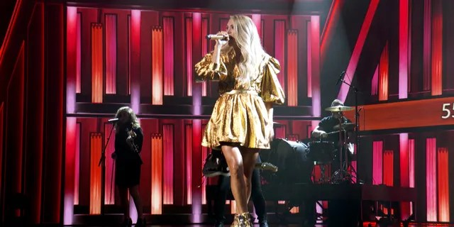 In this screengrab, Carrie Underwood performs onstage during the 55th Academy of Country Music Awards at the Grand Ole Opry on September 13, 2020 in Nashville, Tenn. (Photo by ACMA2020/Getty Images for ACM)