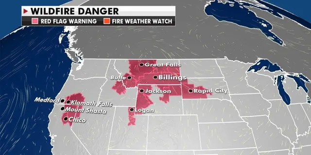 Fire danger lingers across the West on Monday, Sept. 14, 2020.