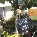 Kansas man's Halloween decorations warn of impending doom – for those not wearing masks