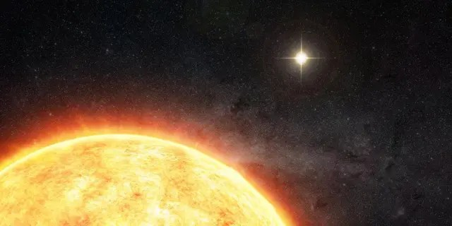 Artist's conception of a potential solar companion, which theorists believe was developed in the Sun's birth cluster and later lost. If proven, the solar companion theory would provide additional credence to theories that the Oort cloud formed as we see it today, and that Planet Nine was captured rather than formed in place. Credit: M. Weiss