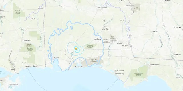 A magnitude 3.8 earthquake struck Thursday morning at 11 a.m. EDT about two miles northwest of Mount Carmel, Fla.