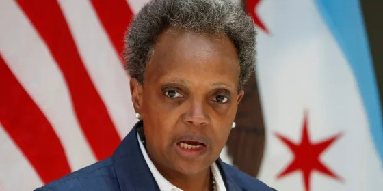Chicago Mayor Lori Lightfoot speaks in Chicago in an undated photo.  (Reuters)